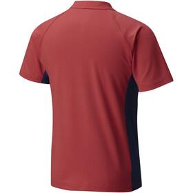 Columbia Silver Ridge T-shirt Garçon, sunset red/carbon